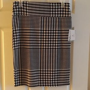 NWT Lularoe Cassie Pencil Skirt 2XL Black/White